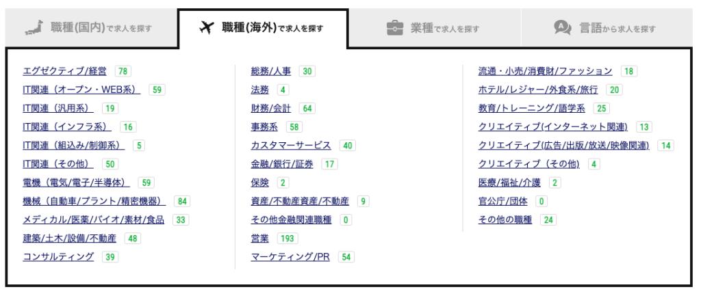 Daijob.com求人検索(海外)