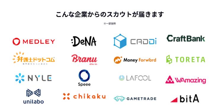 ペイキャリア(PayCareer)導入企業例